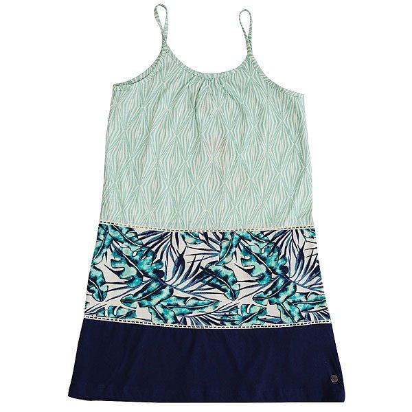 Платье детское Roxy Dolores Park G Ktdr Marshmallow Tropical<br><br>Цвет: голубой,синий,белый<br>Тип: Платье<br>Возраст: Детский