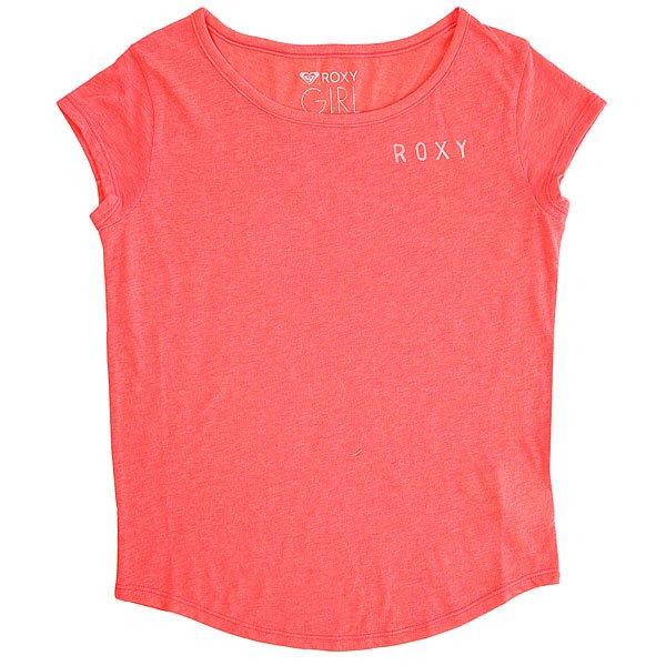 Футболка детская Roxy Shadowcircuplay Neon Grapefruit<br><br>Цвет: розовый<br>Тип: Футболка<br>Возраст: Детский