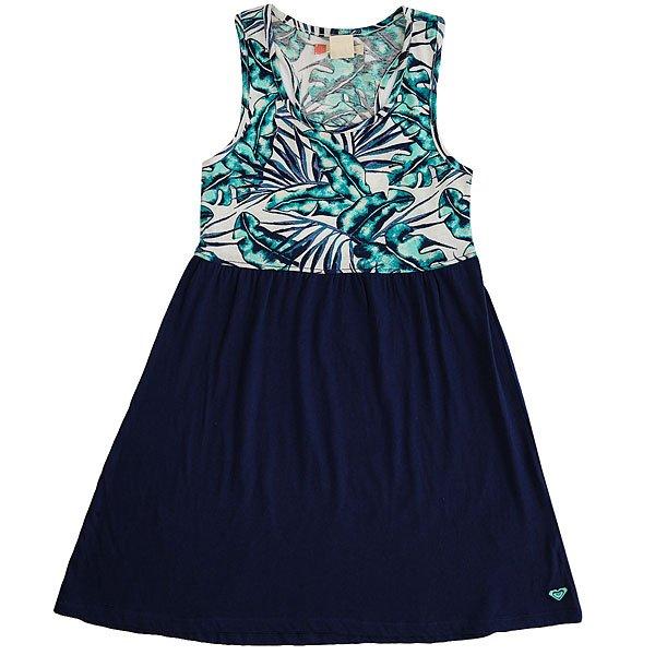 Платье детское Roxy Geo Mix In Dre Tropical Days Marshm<br><br>Цвет: синий,белый<br>Тип: Платье<br>Возраст: Детский