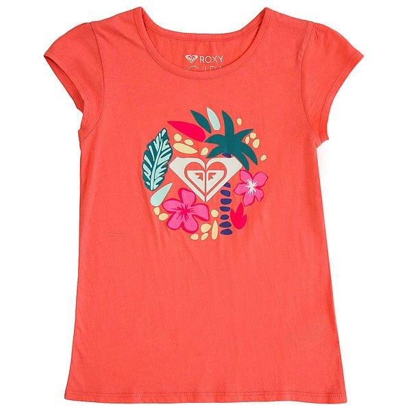 Футболка детская Roxy Moidbowarrow Sugar Coral<br><br>Цвет: розовый<br>Тип: Футболка<br>Возраст: Детский