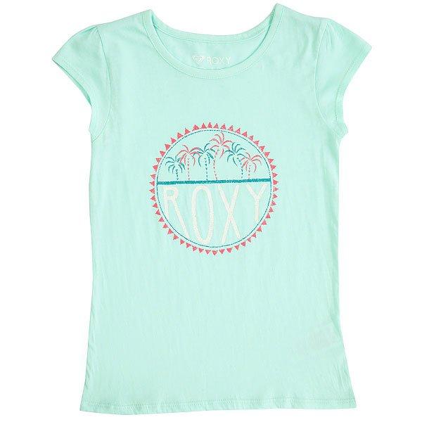 Футболка детская Roxy Moidpalmtiny Beach Glass<br><br>Цвет: голубой<br>Тип: Футболка<br>Возраст: Детский
