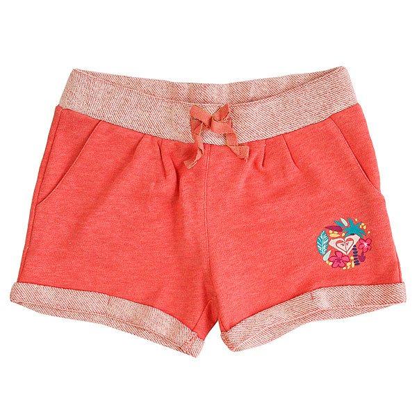 Шорты классические детские Roxy Freshingbreezes Sugar Coral Heather<br><br>Цвет: розовый<br>Тип: Шорты классические<br>Возраст: Детский