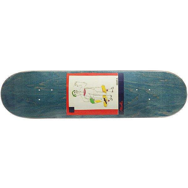 Дека для скейтборда для скейтборда Absurd SSS №2 Blue 32 x 8.125 (20.6 см)Ширина деки: 8.125 (20.6 см)    Длина деки: 32 (81.3 см)    Количество слоев: 7<br><br>Цвет: синий,мультиколор<br>Тип: Дека для скейтборда<br>Возраст: Взрослый<br>Пол: Мужской
