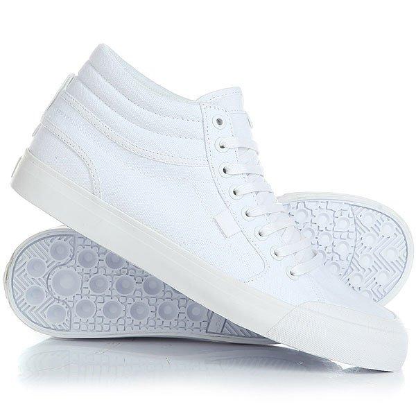 Кеды кроссовки высокие DC Evansmith Hi Tx White кеды кроссовки высокие женские dc evan hi tx se denim