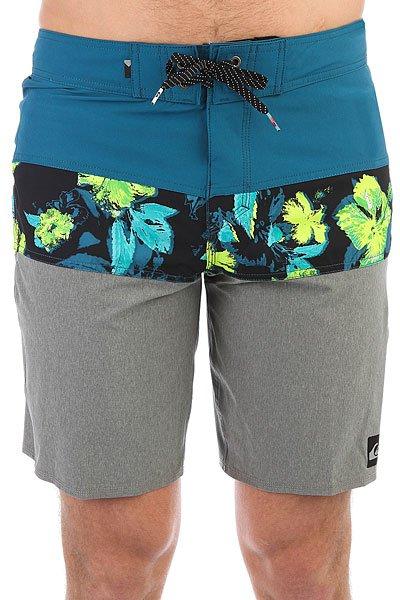 Шорты пляжные Quiksilver Panelblockeve19 Moroccan Blue<br><br>Цвет: синий,серый<br>Тип: Шорты пляжные<br>Возраст: Взрослый<br>Пол: Мужской