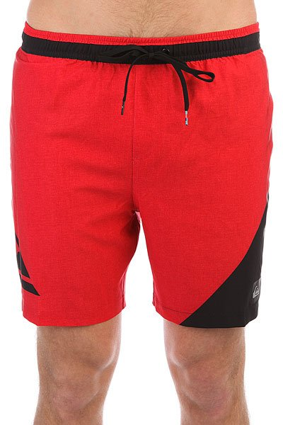 Шорты пляжные Quiksilver Newwavevoll17 Quik Red<br><br>Цвет: красный,черный<br>Тип: Шорты пляжные<br>Возраст: Взрослый<br>Пол: Мужской