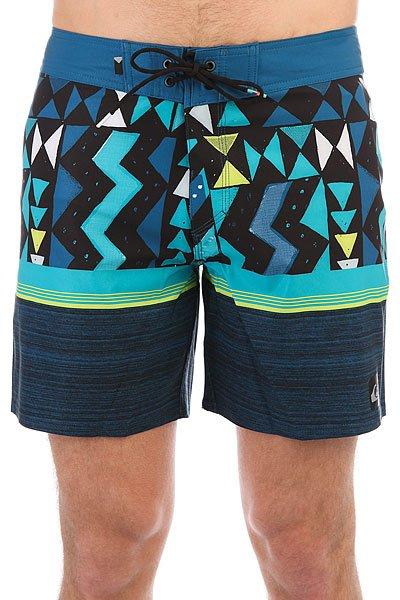 Шорты пляжные Quiksilver Slablapuvee17 Moroccan Blue<br><br>Цвет: черный,голубой,синий<br>Тип: Шорты пляжные<br>Возраст: Взрослый<br>Пол: Мужской