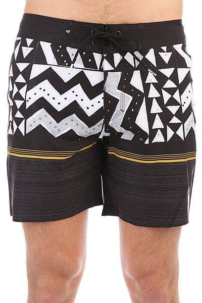 Шорты пляжные Quiksilver Slablapuvee17 Black<br><br>Цвет: черный,белый,желтый<br>Тип: Шорты пляжные<br>Возраст: Взрослый<br>Пол: Мужской