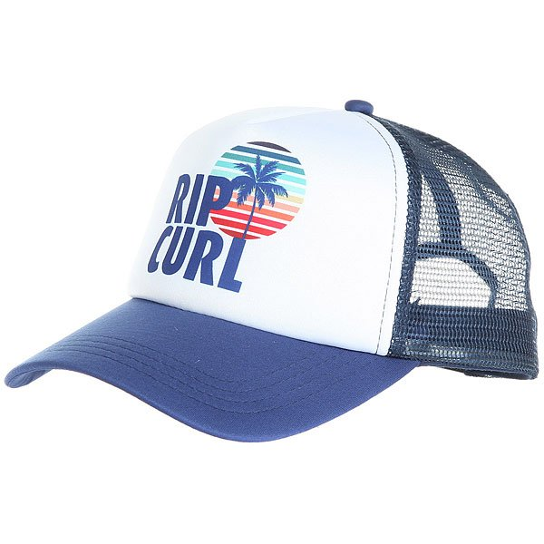 Бейсболка с сеткой женская Rip Curl Surf Trucker Blue<br><br>Цвет: синий,белый<br>Тип: Бейсболка с сеткой<br>Возраст: Взрослый<br>Пол: Женский