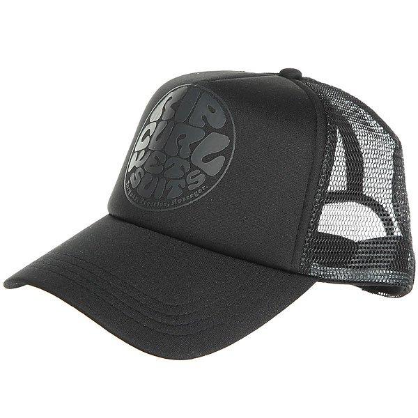 Бейсболка с сеткой женская Rip Curl Wetty Logo Cap Black<br><br>Цвет: черный<br>Тип: Бейсболка с сеткой<br>Возраст: Взрослый<br>Пол: Женский
