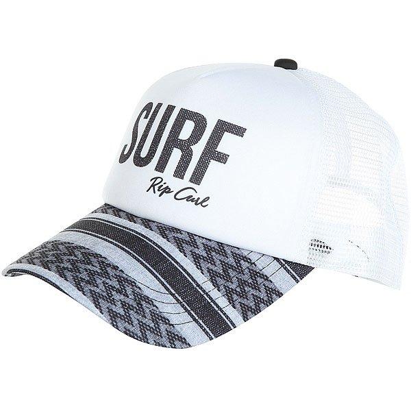 Бейсболка с сеткой женская Rip Curl Surf Trucker White<br><br>Цвет: белый,серый,синий<br>Тип: Бейсболка с сеткой<br>Возраст: Взрослый<br>Пол: Женский