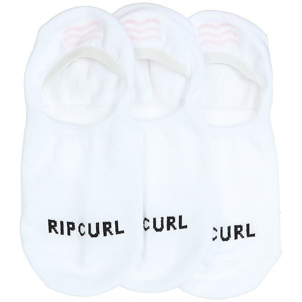 Носки низкие Rip Curl Invisible Sock-3p White лифы rip curl купальник baleare bandeau