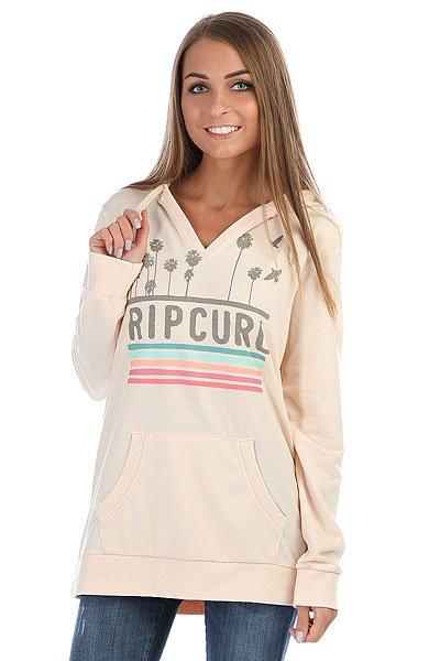 Толстовка кенгуру женская Rip Curl Sun And Surf Hooded Fleece Shell<br><br>Цвет: бежевый<br>Тип: Толстовка кенгуру<br>Возраст: Взрослый<br>Пол: Женский