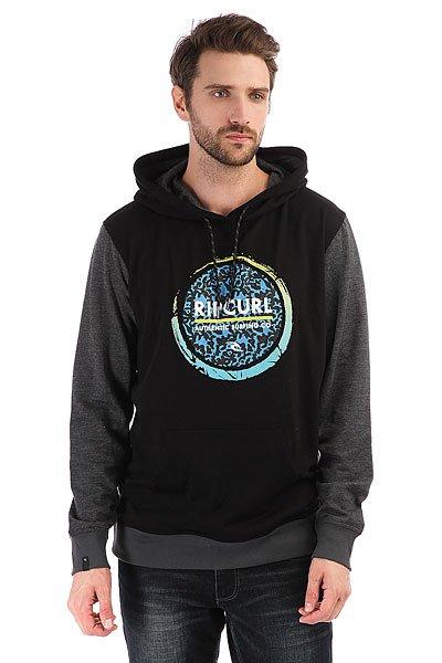 Толстовка кенгуру Rip Curl Eclipse Logo Fleece Black<br><br>Цвет: черный,серый<br>Тип: Толстовка кенгуру<br>Возраст: Взрослый<br>Пол: Мужской