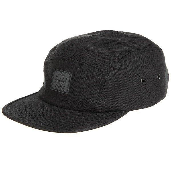 Бейсболка пятипанелька Herschel Glendale Black Surplus<br><br>Цвет: черный<br>Тип: Бейсболка пятипанелька<br>Возраст: Взрослый