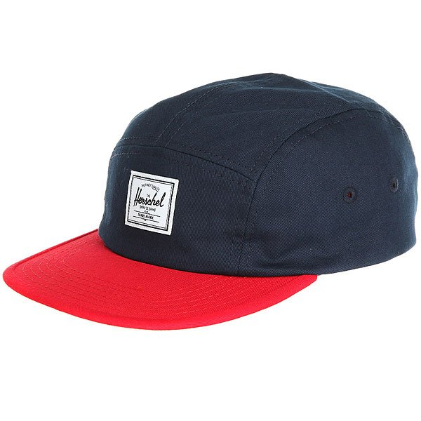 Бейсболка пятипанелька детский Herschel Glendale Youth Classic Navy/Red
