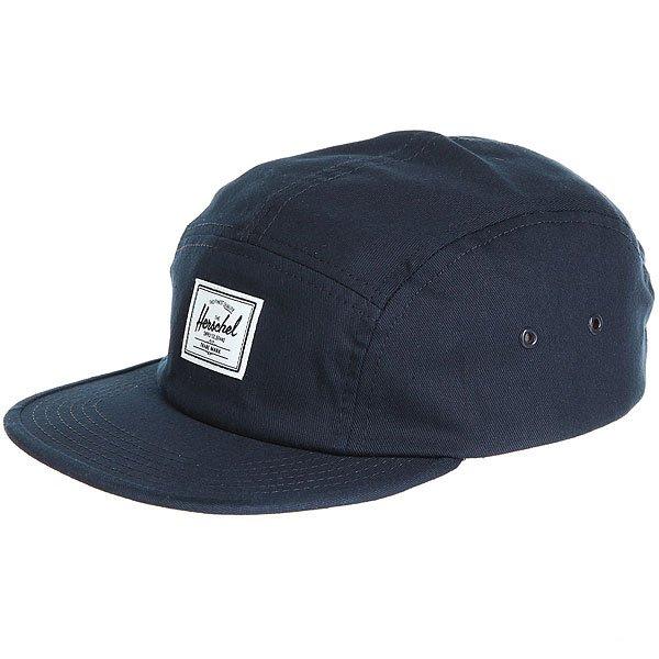 Бейсболка пятипанелька Herschel Glendale Navy<br><br>Цвет: синий<br>Тип: Бейсболка пятипанелька<br>Возраст: Взрослый