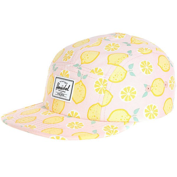 Бейсболка пятипанелька детский Herschel Glendale Youth Classic Lemon Drop