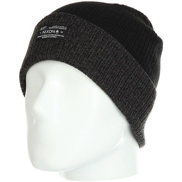 Шапка Nixon Relic Beanie Black/Heather Gray шапка носок nixon tower beanie navy heather