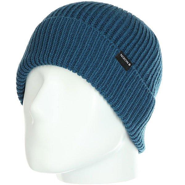 Шапка Nixon Regain Beanie Moroccan Blue шапка носок nixon tower beanie navy heather