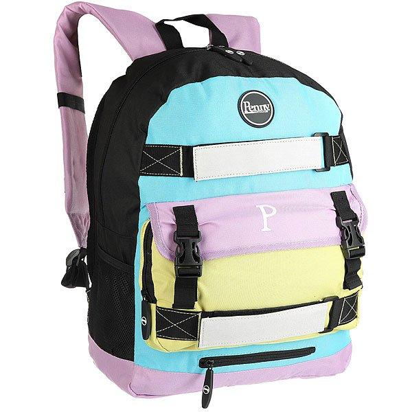 Рюкзак спортивный Penny Bag PastelВозьмите веселые летние флюиды с собой! Рюкзак Penny bag идеально подойдет для Вашего круизераPenny, а также для ежедневной носки в городе. Будьте полностьюэкипированы даже в каменных джунглях, носо вкусом!Характеристики:Внешние крепления дляPenny22 или 27Мягкий отсек для ноутбука с диагональю до15.Карман для планшета. Карман для телефона. Несколько внешних и внутреннихкарманов. Сетчатые карманы для бутылки.<br><br>Цвет: мультиколор<br>Тип: Рюкзак спортивный<br>Возраст: Взрослый