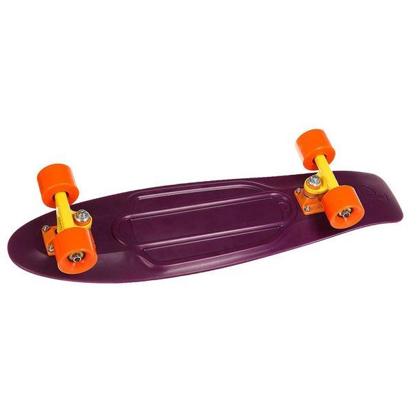 Скейт мини круизер Penny Nickel 27 Sundown 7.5 x 27 (69 см)В основу модели Penny Nickel 27 был положен классический силуэт, полюбившийся любителям быстрой и красивой езды на лонгах вдоль городских улиц. Этот борд универсален, а потому подойдет райдерам обоих полов. Оптимальная длина деки позволяет удобно разместить ноги, а специальное антискользящее внешнее покрытие делает прогулку абсолютно безопасной.Технические характеристики: Длина - 68,6 см, ширина - 19 см.Вес - 3 кг.Подвеска - Custom 4.Колеса - 59 мм, жесткость 78А.Подшипники Penny Abec 7.Вес райдера - до 130 кг.<br><br>Цвет: фиолетовый<br>Тип: Скейт мини круизер<br>Возраст: Взрослый<br>Пол: Мужской