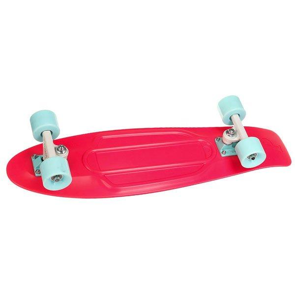 Скейт мини круизер Penny Nickel 27 Watermelon 7.5 x 27 (69 см)В основу модели Penny Nickel 27 был положен классический силуэт, полюбившийся любителям быстрой и красивой езды на лонгах вдоль городских улиц. Этот борд универсален, а потому подойдет райдерам обоих полов. Оптимальная длина деки позволяет удобно разместить ноги, а специальное антискользящее внешнее покрытие делает прогулку абсолютно безопасной.Технические характеристики: Длина - 68,6 см, ширина - 19 см.Вес - 3 кг.Подвеска - Custom 4.Колеса - 59 мм, жесткость 78А.Подшипники Penny Abec 7.Вес райдера - до 130 кг.<br><br>Цвет: розовый<br>Тип: Скейт мини круизер<br>Возраст: Взрослый<br>Пол: Мужской