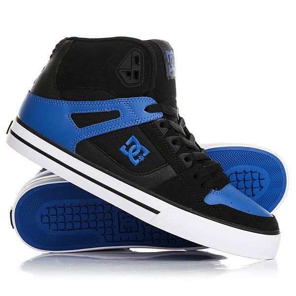 Кеды кроссовки высокие DC Spartan High Wc Black/Blue/White