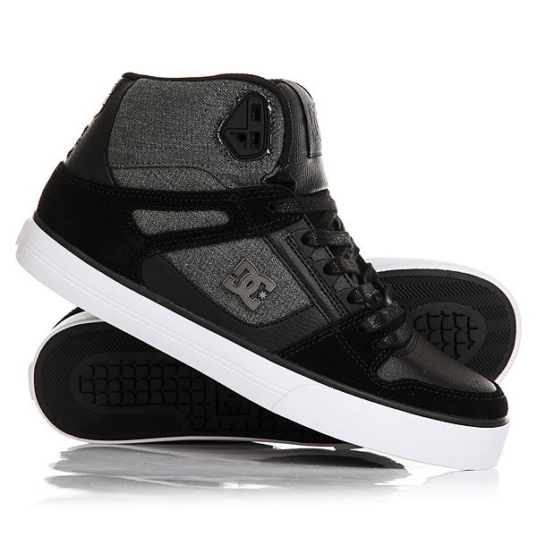 Кеды кроссовки высокие DC Spartan High Wc Black Used dc shoes зимние кеды dc shoes spartan high wc wnt black olive fw17 9