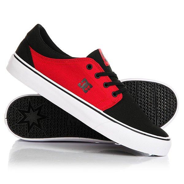 Кеды кроссовки низкие DC Trase Tx Black/White/Red
