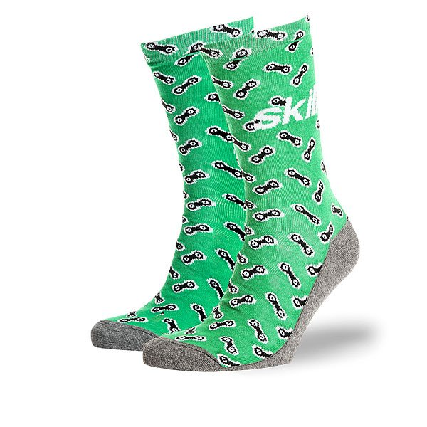 Носки средние Skills Цепи Зеленые