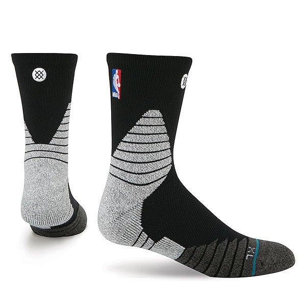 Носки средние Stance Nba Oncourt Solid Qtr Black<br><br>Цвет: черный,серый<br>Тип: Носки средние<br>Возраст: Взрослый<br>Пол: Мужской