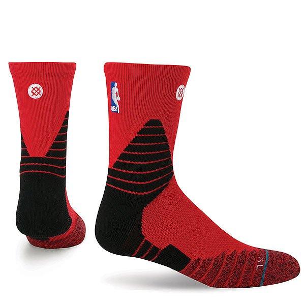 Носки средние Stance Nba Oncourt Solid Qtr Red<br><br>Цвет: красный,черный<br>Тип: Носки средние<br>Возраст: Взрослый<br>Пол: Мужской
