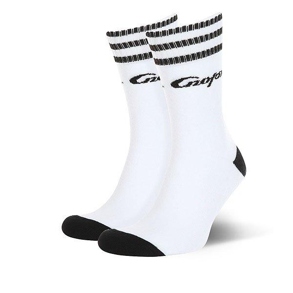 Носки средние Запорожец Спорт Полосы Белый/Черный носки средние женские запорожец лук белый оранжевый