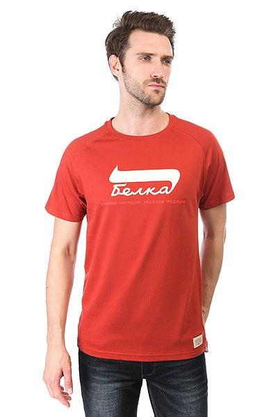 Футболка Запорожец Belka Red<br><br>Цвет: коричневый<br>Тип: Футболка<br>Возраст: Взрослый<br>Пол: Мужской