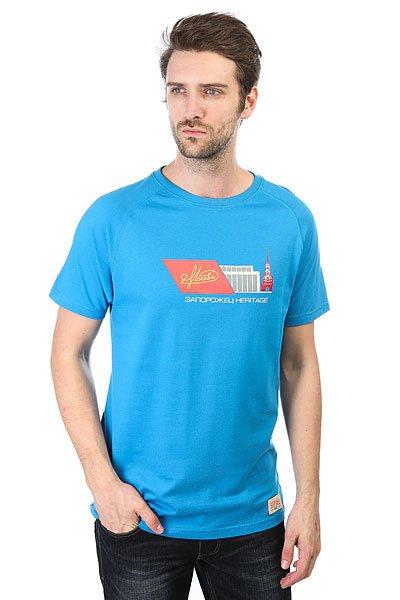 Футболка Запорожец Moskva Blue<br><br>Цвет: голубой<br>Тип: Футболка<br>Возраст: Взрослый<br>Пол: Мужской