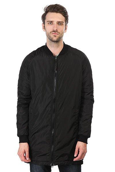 Куртка НИИ Long N Bomber ЧернаяКуртка от российского бренда HИИ из легкой нейлоновой ткани со стеганой подкладкой.Технические характеристики: Легкая нейлоновая ткань.Длинный крой.Стеганая подкладка с легким утеплением.Трикотажные воротник и манжеты.Карманы для рук и потайной карман.Застежка на молнии.<br><br>Цвет: черный<br>Тип: Куртка<br>Возраст: Взрослый<br>Пол: Мужской
