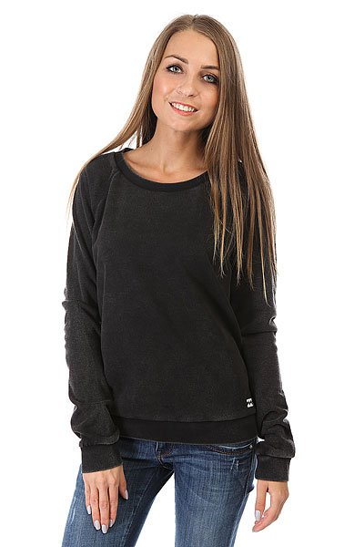 Толстовка классическая женская Billabong Essential Cr Black толстовка женская billabong essential cr 2016 dkathl grey l