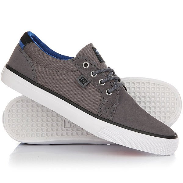 Кеды кроссовки низкие DC Council S Grey/White dc shoes кеды dc council se navy camel 8