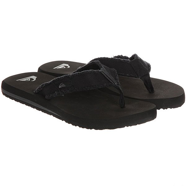 Вьетнамки детские Quiksilver Monkey Abyss Black/Brown
