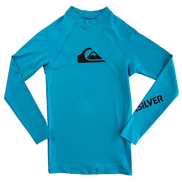 Гидрофутболка детская Quiksilver All Time Boy Ls Blue DanubeГидрофутболка с длинным рукавом для мальчиков All Time.Технические характеристики: Мягкий и износостойкий эластичный полиэстер.Изделие превосходно сохраняет форму и цвет.Плотно прилегает к телу.Фактор защиты от УФ излучения UPF 50.<br><br>Цвет: голубой<br>Тип: Гидрофутболка<br>Возраст: Детский