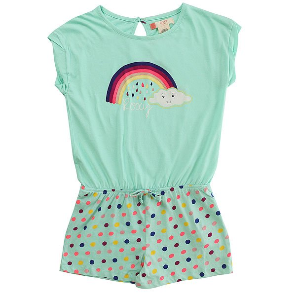 Комбинезон детский Roxy Rainbow Dots Ro Beach Glass Toudou<br><br>Цвет: голубой<br>Тип: Комбинезон<br>Возраст: Детский