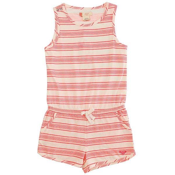 Комбинезон детский Roxy Alligive Somptuous Stripe<br><br>Цвет: белый,розовый<br>Тип: Комбинезон<br>Возраст: Детский