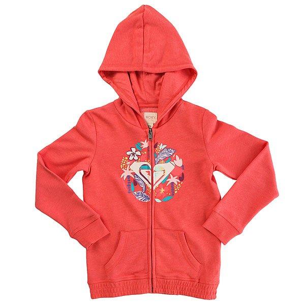 Толстовка классическая детская Roxy Ladyseardrop Sugar Coral Heather<br><br>Цвет: розовый<br>Тип: Толстовка классическая<br>Возраст: Детский