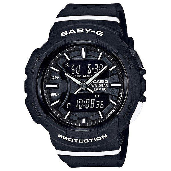 Кварцевые часы женские Casio G-Shock Baby-g 67719 bga-240-1a1Часы для любителей бега, а если ежедневные пробежки - это не про вас, все в порядке, ведь перед вами полноценная fashion модель, которая украсит любое запястье и станет яркой частью уличной моды любого мегаполиса.Характеристики:Данная модель представлена в аналого-цифровом варианте (стрелки + жидкокристаллический дисплей).Светодиодная автоподсветка. При повороте часов в сторону лица подсвечивание дисплея осуществляется автоматически, благодаря функции «Автоподсветка». Продолжительность подсветки можно изменять. Функция задержки отключения - подсветка горит еще несколько секунд после отпускания кнопки освещения. Светонакопитель Neobrite.Специальное покрытие обеспечивает длительное послесвечение в темноте даже после кратковременного нахождения на свету. Двойное время (Dual Time): одновременное отображение текущего времени в двух разных часовых поясах. Точное измерение истекшего времени касанием кнопки. Секундомер позволяет фиксировать общее время преодоления всей дистанции, время преодоления отдельных дистанций (кругов), а также время преодоления дистанции с промежуточным результатом и результат двойного финиша. Точность измерения для первого часа 1/100 сек, после – 1/1 сек, запас измерения 100 часов. Функция записной книжки секундомера - позволяет сохранить в памяти часов время преодоления отдельных дистанций (кругов) и время преодоления дистанции с промежуточным результатом. Память на 60 записей. Таймер обратного отсчета с функцией автоповтора. Максимальное время установки 24 часа - шаг измерения 1/1 сек, минимальное время установки 1 минута.Функция мультисигнала позволяет устанавливать 4 разных типа сигнала: 1. Ежедневный. 2. Ежемесячный. 3. Сигнал в определенное время каждый день определенного месяца. 4. Сигнал в определенное время в определенный день (на дату). В данной модели - 3 независимых будильника. Функция повтора сигнала будильника (SNOOZE). Функция ежечасного сигнала обеспечивает подачу часами з