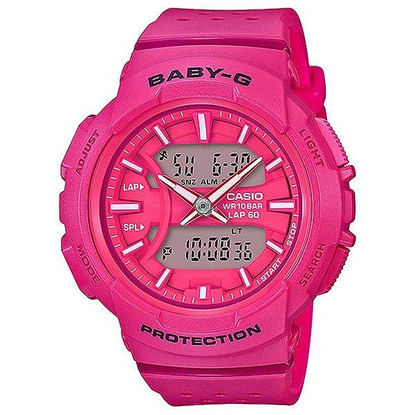 Кварцевые часы женские Casio G-Shock Baby-g 67721 bga-240-4aЧасы для любителей бега, а если ежедневные пробежки - это не про вас, все в порядке, ведь перед вами полноценная fashion модель, которая украсит любое запястье и станет яркой частью уличной моды любого мегаполиса.Характеристики:Данная модель представлена в аналого-цифровом варианте (стрелки + жидкокристаллический дисплей).Светодиодная автоподсветка. При повороте часов в сторону лица подсвечивание дисплея осуществляется автоматически, благодаря функции «Автоподсветка». Продолжительность подсветки можно изменять. Функция задержки отключения - подсветка горит еще несколько секунд после отпускания кнопки освещения. Светонакопитель Neobrite.Специальное покрытие обеспечивает длительное послесвечение в темноте даже после кратковременного нахождения на свету. Двойное время (Dual Time): одновременное отображение текущего времени в двух разных часовых поясах. Точное измерение истекшего времени касанием кнопки. Секундомер позволяет фиксировать общее время преодоления всей дистанции, время преодоления отдельных дистанций (кругов), а также время преодоления дистанции с промежуточным результатом и результат двойного финиша. Точность измерения для первого часа 1/100 сек, после – 1/1 сек, запас измерения 100 часов. Функция записной книжки секундомера - позволяет сохранить в памяти часов время преодоления отдельных дистанций (кругов) и время преодоления дистанции с промежуточным результатом. Память на 60 записей. Таймер обратного отсчета с функцией автоповтора. Максимальное время установки 24 часа - шаг измерения 1/1 сек, минимальное время установки 1 минута.Функция мультисигнала позволяет устанавливать 4 разных типа сигнала: 1. Ежедневный. 2. Ежемесячный. 3. Сигнал в определенное время каждый день определенного месяца. 4. Сигнал в определенное время в определенный день (на дату). В данной модели - 3 независимых будильника. Функция повтора сигнала будильника (SNOOZE). Функция ежечасного сигнала обеспечивает подачу часами зв