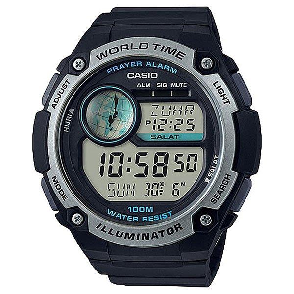 Электронные часы Casio Collection 67730 cpa-100-1aМужские наручные часы CASIO CPA-100-1AVEF коллекции наручных часов CASIO COLLECTION. Корпус изготовленный из полимерного пластика надёжно защищает кварцевый механизм часов, аккумулятор рассчитан на 7 лет бесперебойной работы, ремешок изготовлен из полимерного материала, пластиковое стекло защитит циферблат от мелких царапин и повреждений. Характеристики:Светодиодная подсветка. Функция задержки отключения - подсветка горит еще несколько секунд после отпускания кнопки освещения. Отображение возраста луны на основе введенных координат (широты и долготы) вашего местонахождения. Время намаза: в данном режиме отображается время и название намаза. 6 ежедневных намазов (FAJR (Фаджр), SHRK (Восход), ZUHR (Зухр), ASR (Аср), MGRB (Магриб), ISHA (Иша)). На экране отображается время начала намаза и время, прошедшее с начала намаза (длительность до 30 минут). Индикатор оповещения и отключаемый звуковой сигнал (продолжительность звучания 10 секунд) о времени начала следующего намаза.В данных часах предустановлено 5 способов вычисления времени начала намазов в соответствии с географическими областями. Также в часах есть возможность настроить свой способ вычисления. Мировое время:в данном режиме вы можете просмотреть местное время в некоторых основных городах и определенных регионах мира. Показания текущего времени в 70 городах (31 часовая зона), возможность настройки 3-х кодов города пользователем самостоятельно. Секундомер позволяет регистрировать отдельные отрезки времени, время с промежуточным результатом и время двойного финиша. Точность измерения 1/100 сек, запас измерения 24 часа. Таймер обратного отсчета. Ежедневный сигнал звучит каждый день в установленное вами время. Можно установить до 5 независимых ежедневных сигналов.Функция ежечасного сигнала обеспечивает подачу часами звукового сигнала при наступлении каждого нового часа. Включение/выключение звука кнопок. Полностью автоматический календарь. Автоматически учитываются м