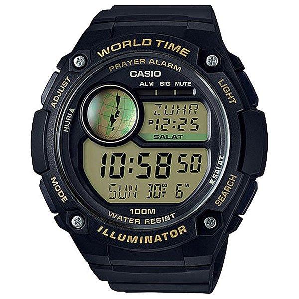 Электронные часы Casio Collection 67731 cpa-100-9aМужские наручные часы CASIO CPA-100-1AVEF коллекции наручных часов CASIO COLLECTION. Корпус изготовленный из полимерного пластика надёжно защищает кварцевый механизм часов, аккумулятор рассчитан на 7 лет бесперебойной работы, ремешок изготовлен из полимерного материала, пластиковое стекло защитит циферблат от мелких царапин и повреждений. Характеристики:Светодиодная подсветка. Функция задержки отключения - подсветка горит еще несколько секунд после отпускания кнопки освещения. Отображение возраста луны на основе введенных координат (широты и долготы) вашего местонахождения. Время намаза: в данном режиме отображается время и название намаза. 6 ежедневных намазов (FAJR (Фаджр), SHRK (Восход), ZUHR (Зухр), ASR (Аср), MGRB (Магриб), ISHA (Иша)). На экране отображается время начала намаза и время, прошедшее с начала намаза (длительность до 30 минут). Индикатор оповещения и отключаемый звуковой сигнал (продолжительность звучания 10 секунд) о времени начала следующего намаза.В данных часах предустановлено 5 способов вычисления времени начала намазов в соответствии с географическими областями. Также в часах есть возможность настроить свой способ вычисления. Мировое время:в данном режиме вы можете просмотреть местное время в некоторых основных городах и определенных регионах мира. Показания текущего времени в 70 городах (31 часовая зона), возможность настройки 3-х кодов города пользователем самостоятельно. Секундомер позволяет регистрировать отдельные отрезки времени, время с промежуточным результатом и время двойного финиша. Точность измерения 1/100 сек, запас измерения 24 часа. Таймер обратного отсчета. Ежедневный сигнал звучит каждый день в установленное вами время. Можно установить до 5 независимых ежедневных сигналов.Функция ежечасного сигнала обеспечивает подачу часами звукового сигнала при наступлении каждого нового часа. Включение/выключение звука кнопок. Полностью автоматический календарь. Автоматически учитываются м