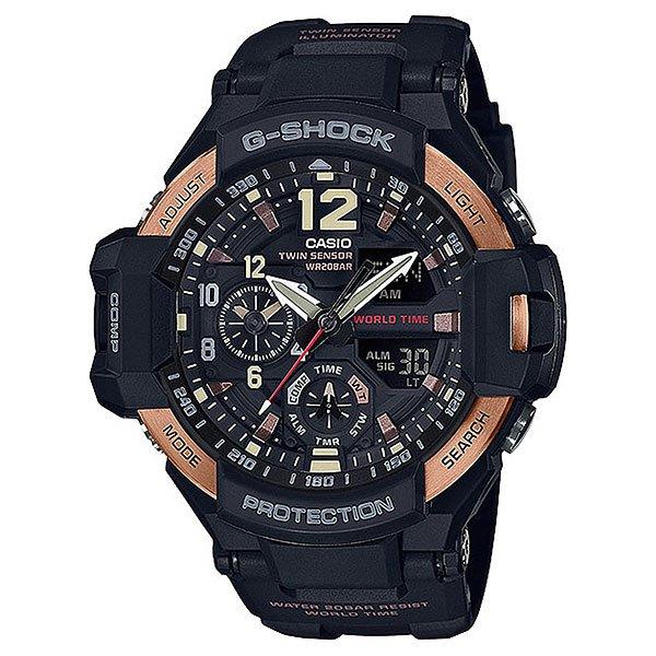 Кварцевые часы Casio G-Shock Premium 67718 ga-1100rg-1aСверхпрочная многофункциональная модель из профессиональнойсерии GRAVITYMASTER™в черном корпусе и стальным безелем цвета розового золота является одной из вершин джишокостроения. Брутальный дизайн в оливковом корпусе с оранжевыми деталями циферблата и совершенная техническая начинка делают эти часы одними из флагманов G-SHOCK.Характеристики:При нажатии на кнопку подсветки экран ярко освещается в ультрамодный цвет. Ударопрочная конструкция защищает от ударов и вибрации. Светящееся покрытие обеспечивает длительную подсветку в темное время суток после короткого воздействия света. Встроенный цифровой компас определяет северный магнитный полюс. Датчик измеряет температуру окружающего воздуха вокруг часов и отображает ее на экране в градусах °C(10°C/+60°C).Отображение текущего времени в основных городах и конкретных областях по всему миру. Прошедшее время измеряется с точностью в 1/100 секунды. Пределы измерения достигают 1 часа. Таймер - 1/1 мин. - 1 час. 5 ежедневных будильников.Функция перемещения стрелок.Включение/выключение звука кнопок.Автоматический календарь.12/24-часовое отображение времени. Прочное, устойчивое к царапинам минеральное стекло защищает часы от повреждений. Корпус из нержавеющей стали и полимерного пластика. Натуральный полимерный материал является идеальным для изготовления ремешка благодаря своей чрезвычайной прочности и гибкости. Аккумулятор обеспечивает часы достаточным питанием приблизительно на два года. Идеально подходит для ныряния без акваланга: часы являются водонепроницаемыми до 20 Бар/на глубине до 200 метров.<br><br>Цвет: черный,коричневый<br>Тип: Кварцевые часы<br>Возраст: Взрослый<br>Пол: Мужской