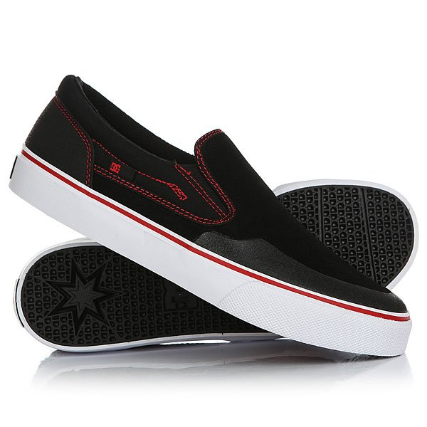 Слипоны DC Trase Slip S Rt Black/Red/White